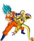 goku ssgss vs golden freezer by saodvd-d8yz21b