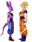 Goku and bills render by lewildgoku-d5w7p5o
