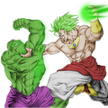 broly vs  hulk colored by scarjay-d3cerzf