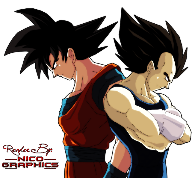 Goku And Vegeta Render By Nico Graphics By Bynicographics D8fw78x
