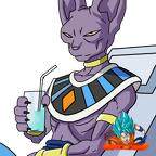 lord beerus w  cup  render  by anthonyjmo-d9dp3il