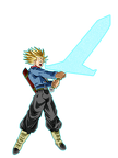 mirai trunks super saiyan rage  sword of hope  by frost z-datcewn