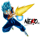 vegitto ssgss  super saiyan blue by nekoar-db9f6d4