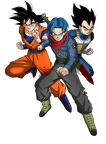 goku  trunks y vegeta   render   dragon ball super by fradayesmarkers-dbenua9